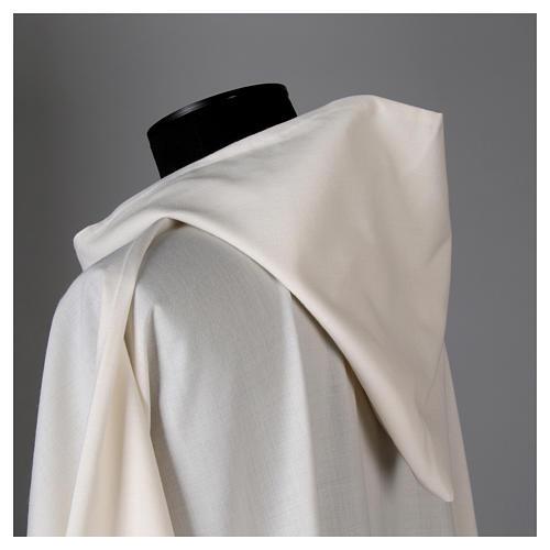 Alba lana poliéster capucha blanca 5