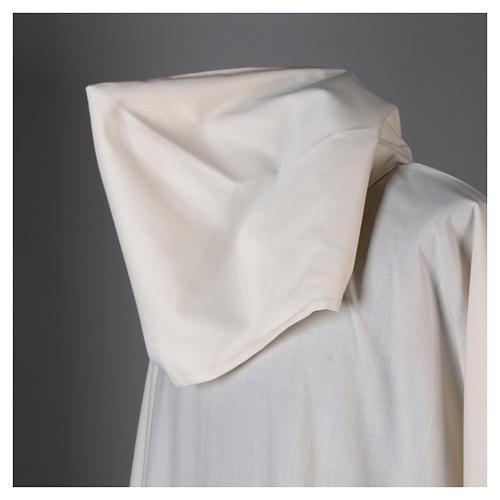 Alba lana poliéster capucha blanca 7