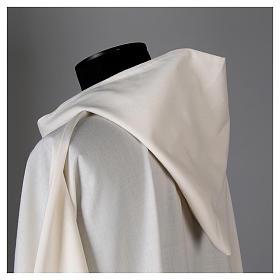 Aube laine polyester blanc capuche s4