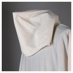 Aube laine polyester blanc capuche s6