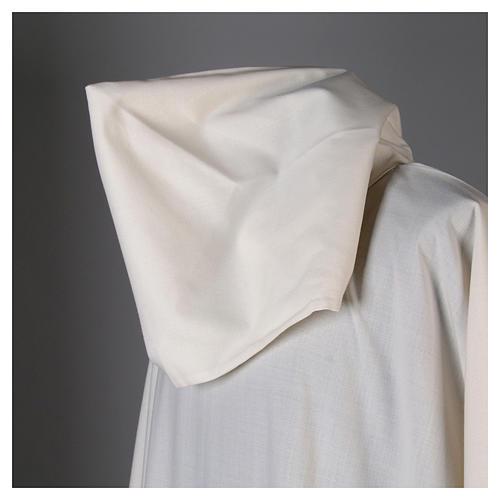 Aube laine polyester blanc capuche 6