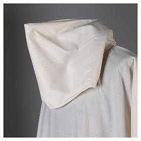 Surplice in wool and polyester with hood white colour s6