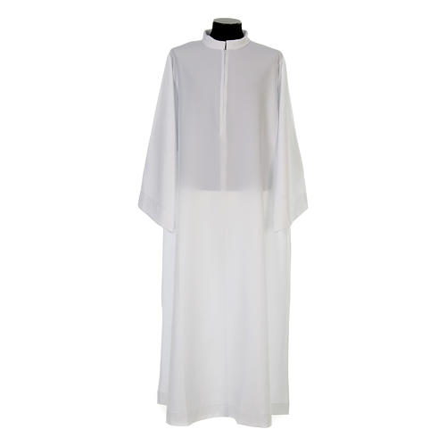 Clergy alb, flared with collar 100% polyester 1