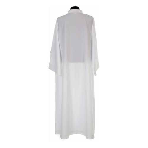 Clergy alb, flared with collar 100% polyester 3