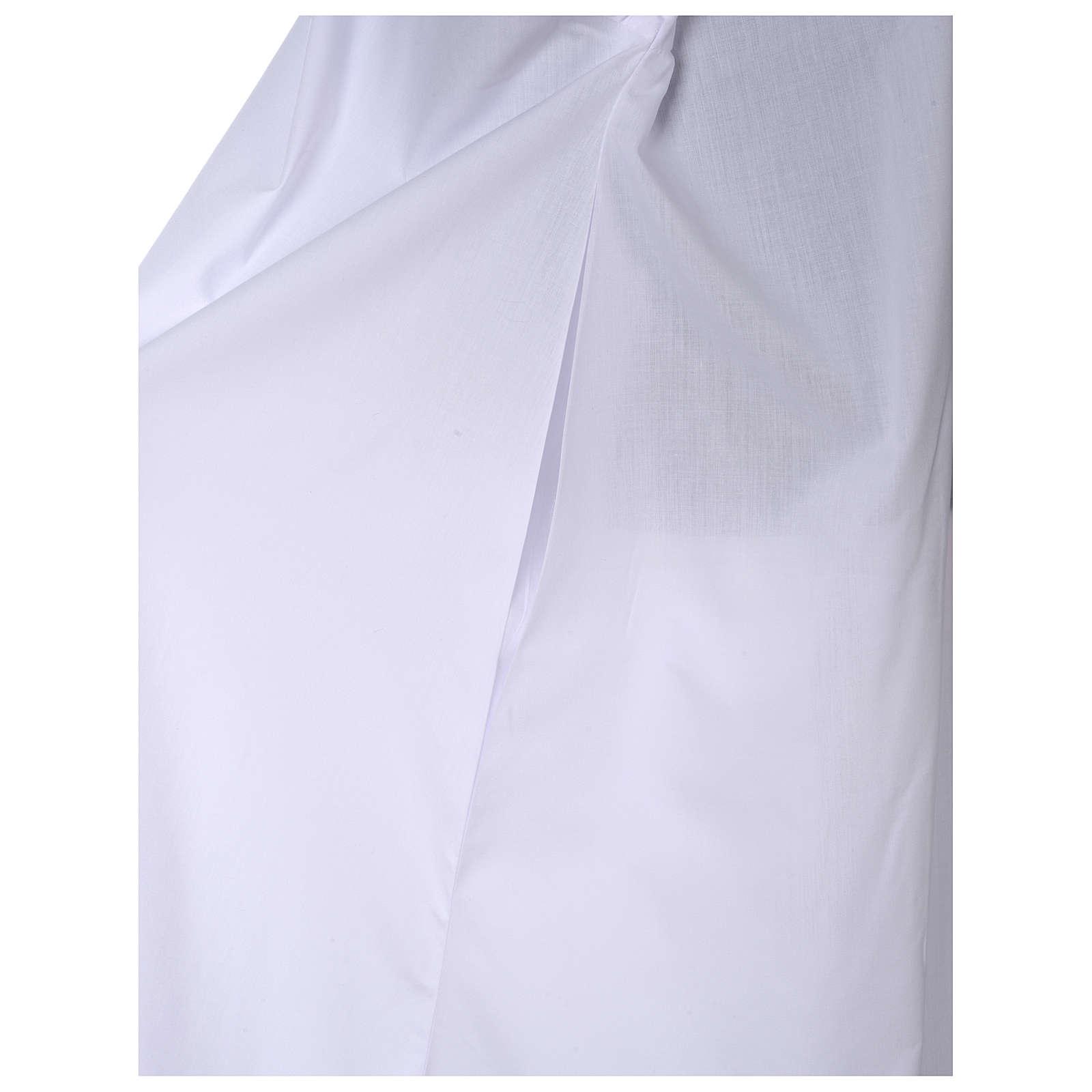 Ausgestellte Albe mit Raglanärmeln, weiß, Baumwoll-Polyester-Mischgewebe 4
