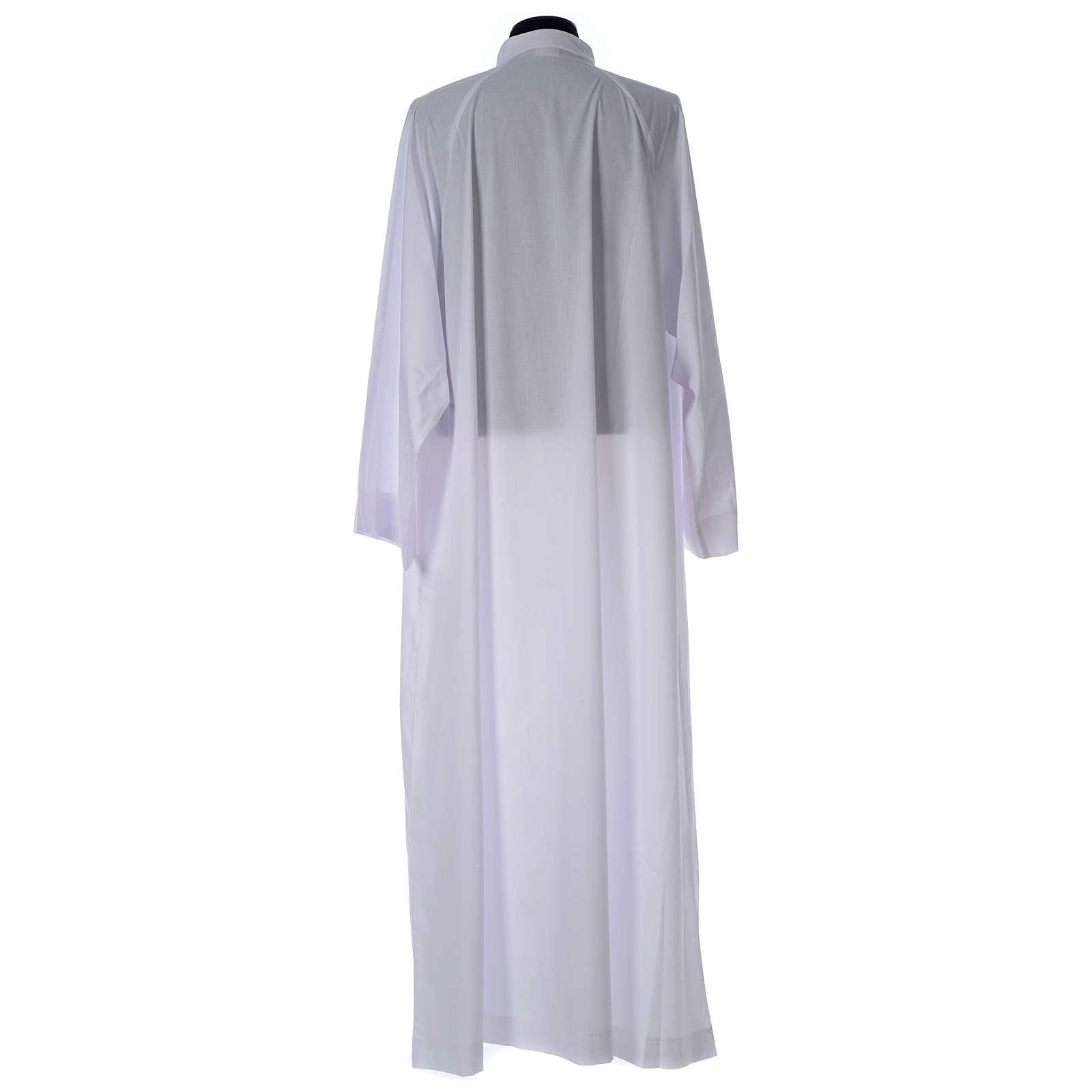 Alba biała rozkloszowana z rękawem raglan bawełna mieszana 4