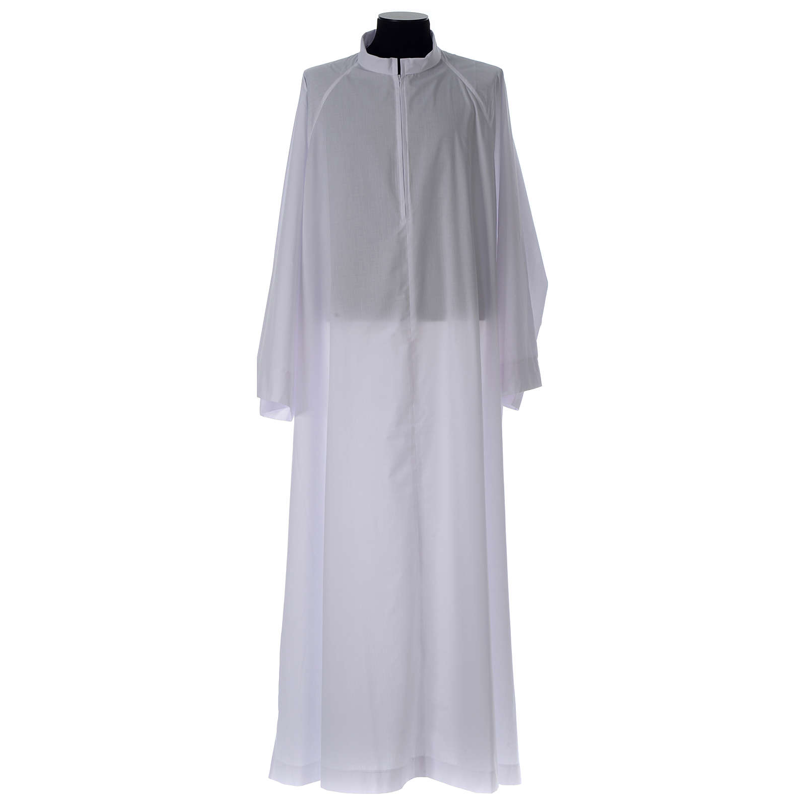 Holy Communion alb, flared with raglan sleeve in cotton mix 4