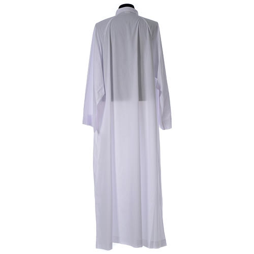 Holy Communion alb, flared with raglan sleeve in cotton mix 2
