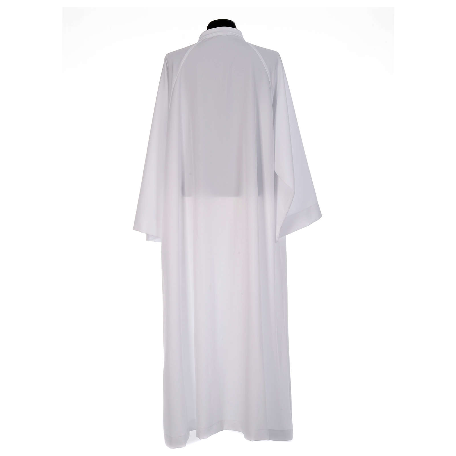 First Communion alb, flared with raglan sleeve in 100% polyester 4