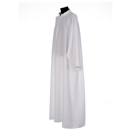 First Communion alb, flared with raglan sleeve in 100% polyester 2