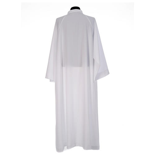 First Communion alb, flared with raglan sleeve in 100% polyester 3