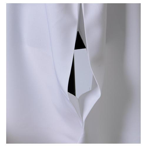 Camice bianco svasato con finto cappuccio 100% poliestere 5