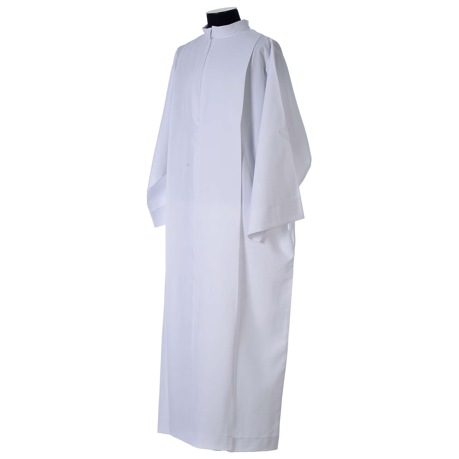 Clerical Alb with front zipper, 100% polyester 4