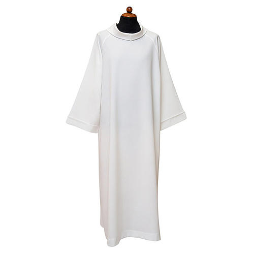 Priest Alb with raglan sleeve and fake hood in 100% polyester 1