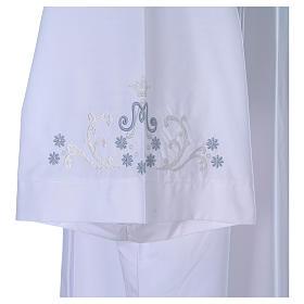 Alva com bordado mariano ambos lados punhos misto algodão s5
