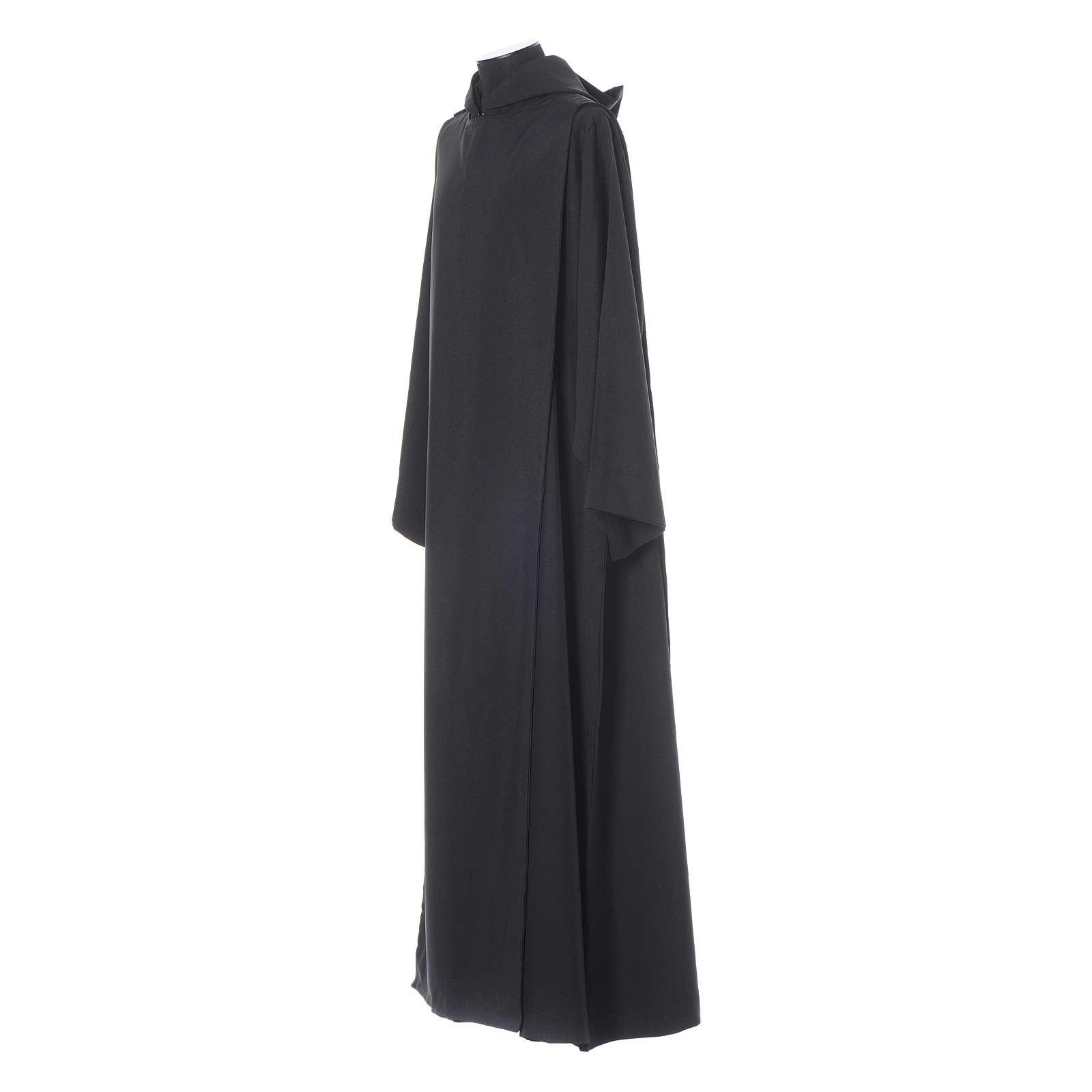 Camice benedettino nero poliestere 4