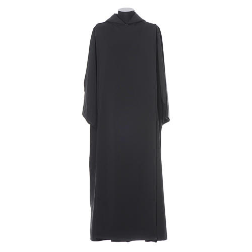 Camice benedettino nero poliestere 1
