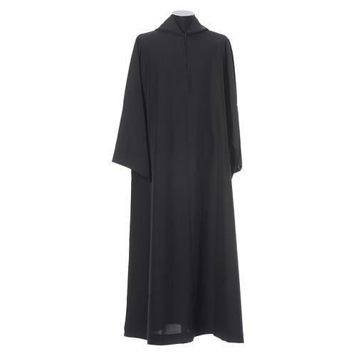Camice benedettino nero poliestere 5