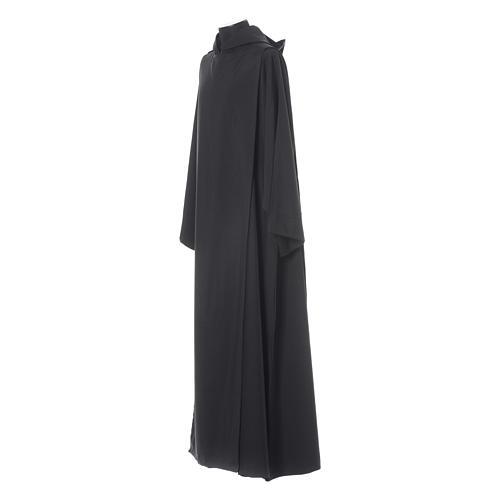 Alba benedyktyńska czarna poliester 2