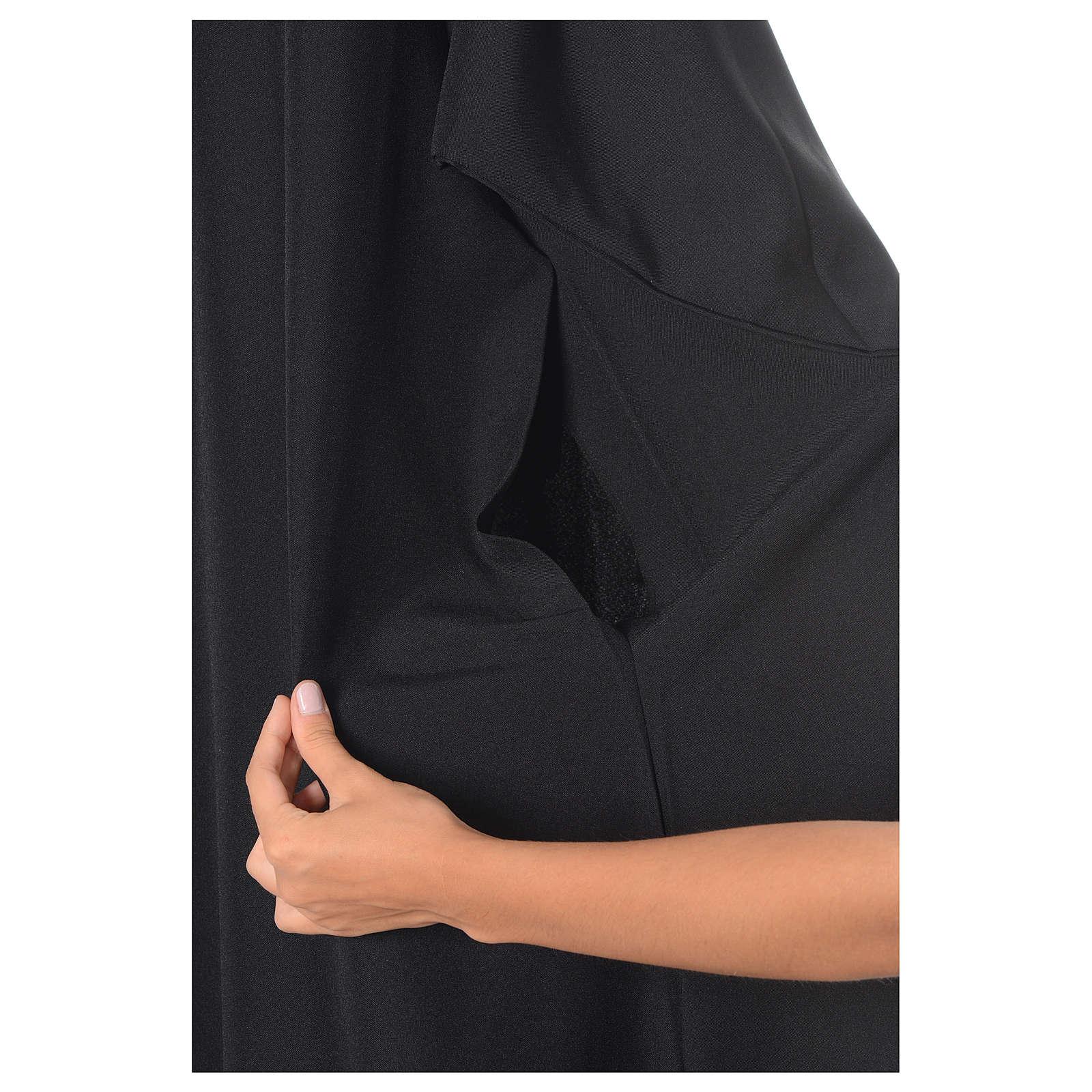 Black Alb Benedictine style in polyester 4