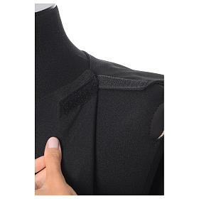 Black Alb Benedictine style in polyester s8