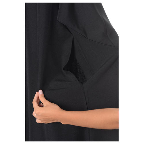 Black Alb Benedictine style in polyester 6