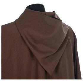 Franciscan brown alb in polyester with front zipper s4