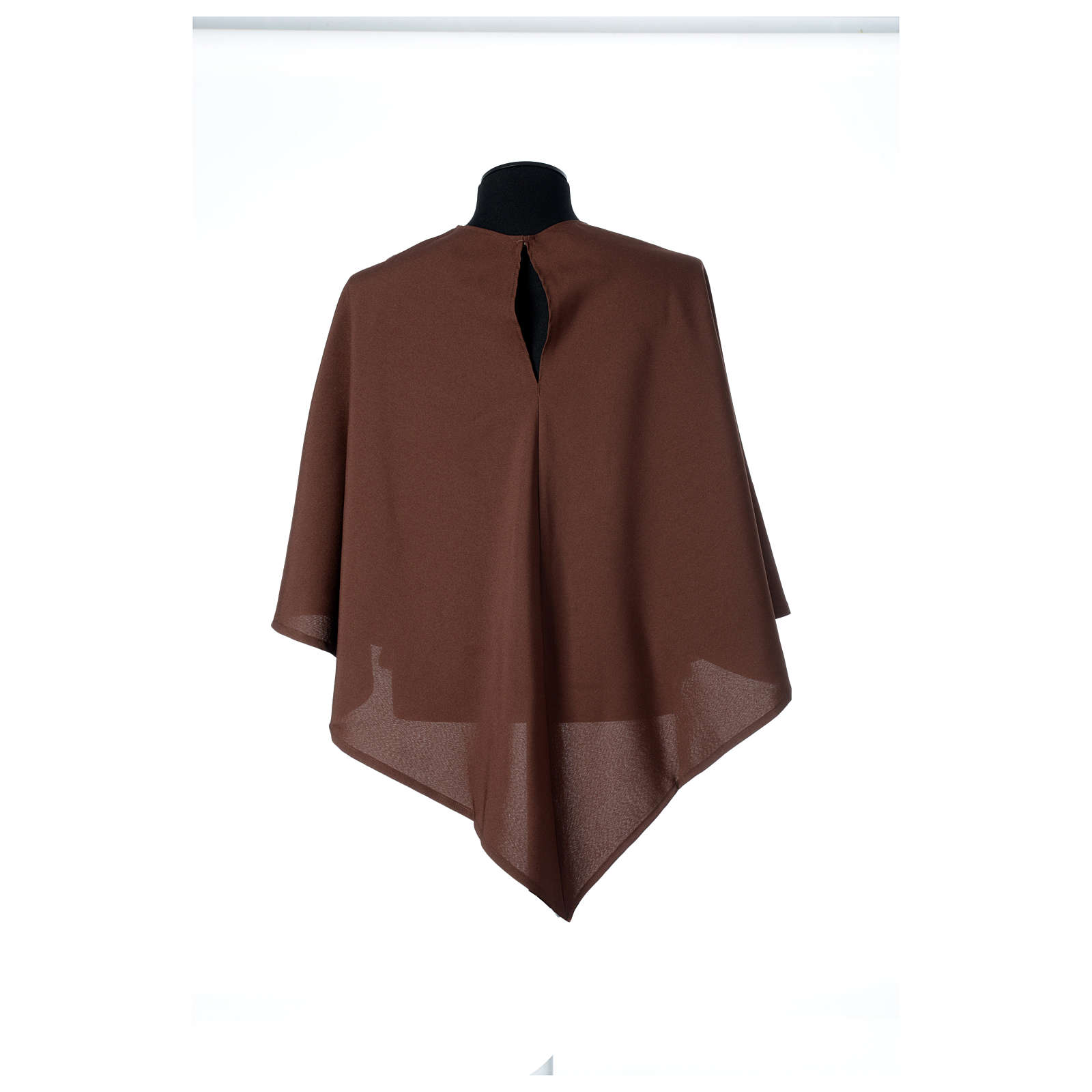 Hábito franciscano capucha marrón poliéster 4