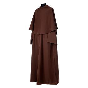 Hábito franciscano capucha marrón poliéster s2
