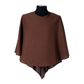 Hábito franciscano capucha marrón poliéster s5