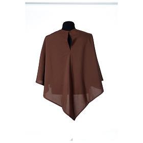 Hábito franciscano capucha marrón poliéster s6