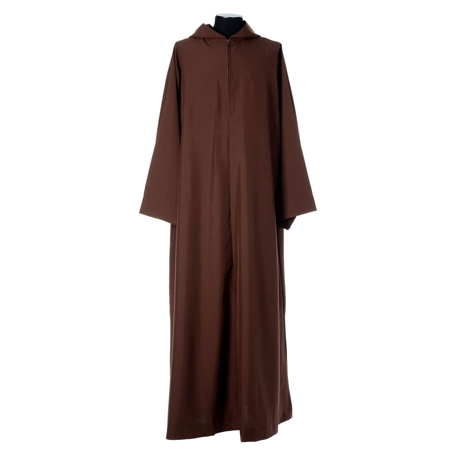 Saio francescano con mantella marrone poliestere 4