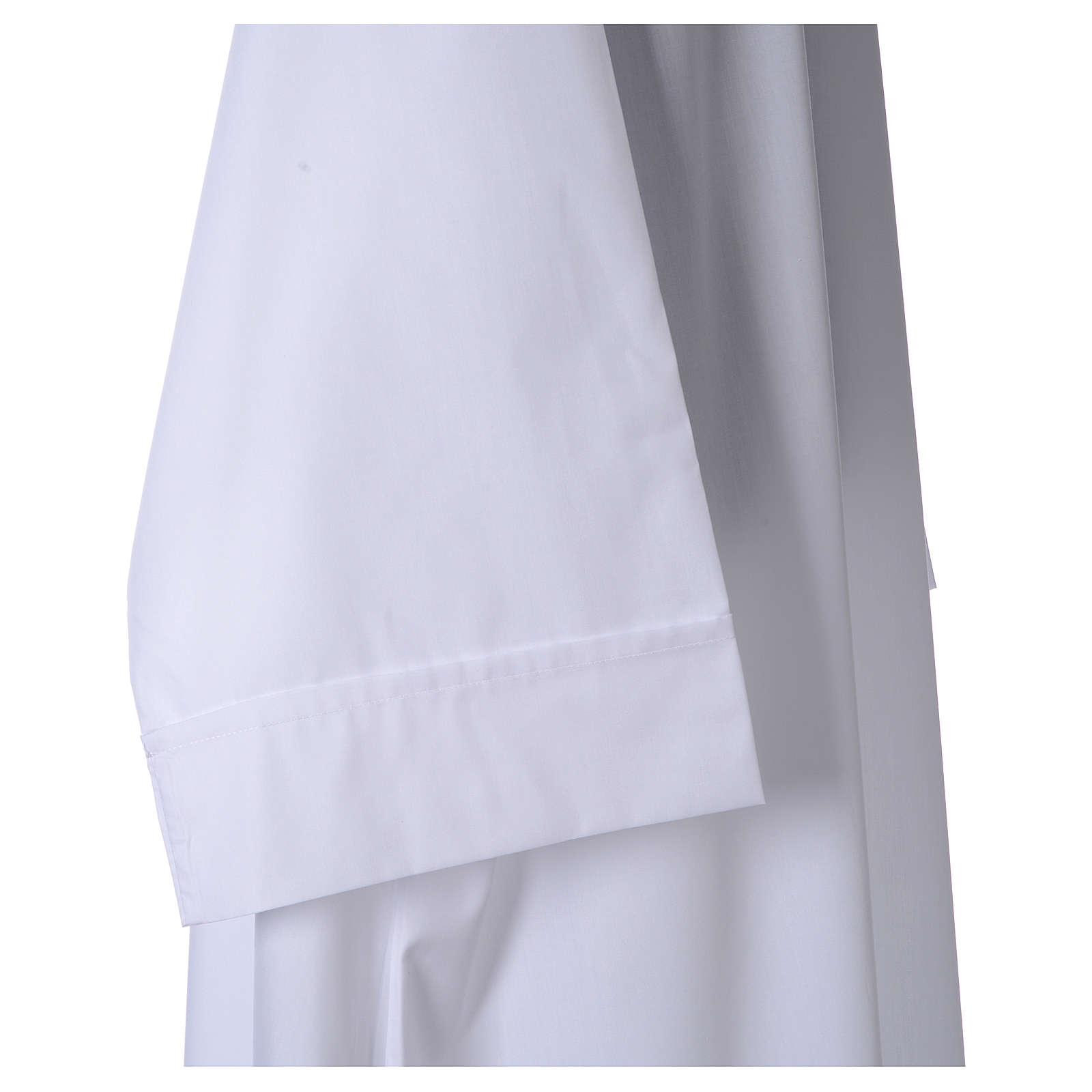 Alba blanca 65% pol. 35% algodón sencillo cremallera adelante 4