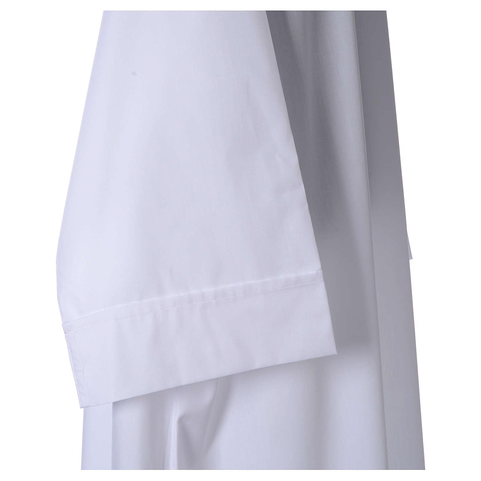 Camice bianco 65% pol. 35% cotone semplice cerniera davanti 4