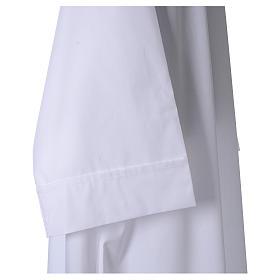 Camice bianco 65% pol. 35% cotone semplice cerniera davanti s3