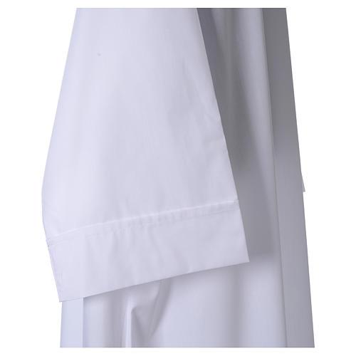 Camice bianco 65% pol. 35% cotone semplice cerniera davanti 3
