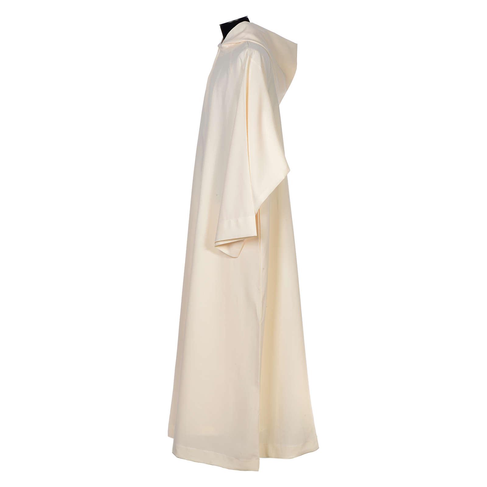 Aube ivoire évasé ample capuche 100% polyester 4