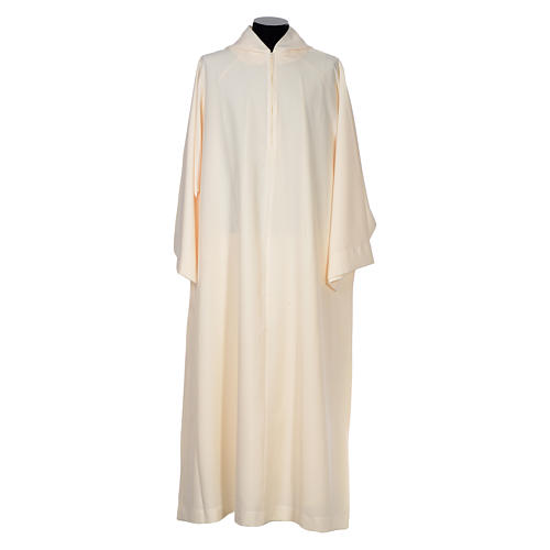 Surplice in polyester, flared with large hood 1