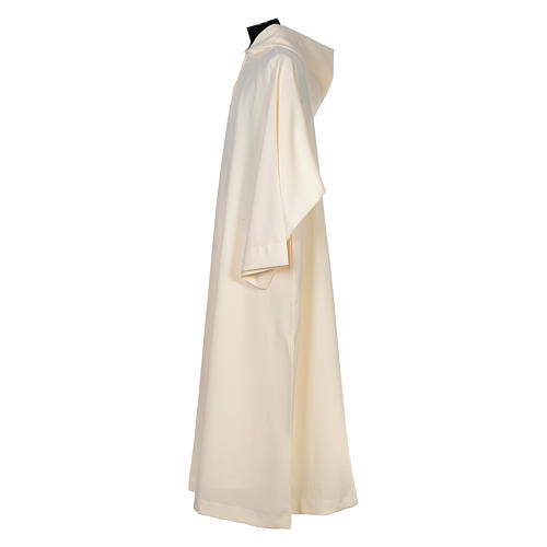 Surplice in polyester, flared with large hood 2