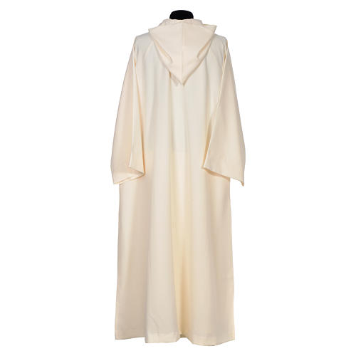 Surplice in polyester, flared with large hood 3