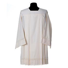 Surplis ivoire 55% polyester 45% coton décor bas macramé s2