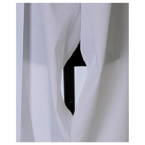 Camice con piegoni e merletto calice su fondo e maniche 6