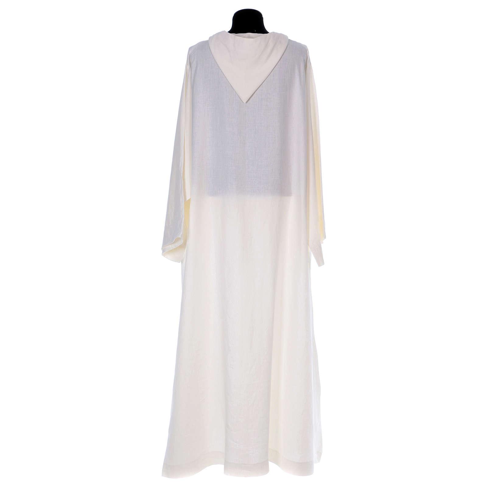 Monastic alb in linen 4