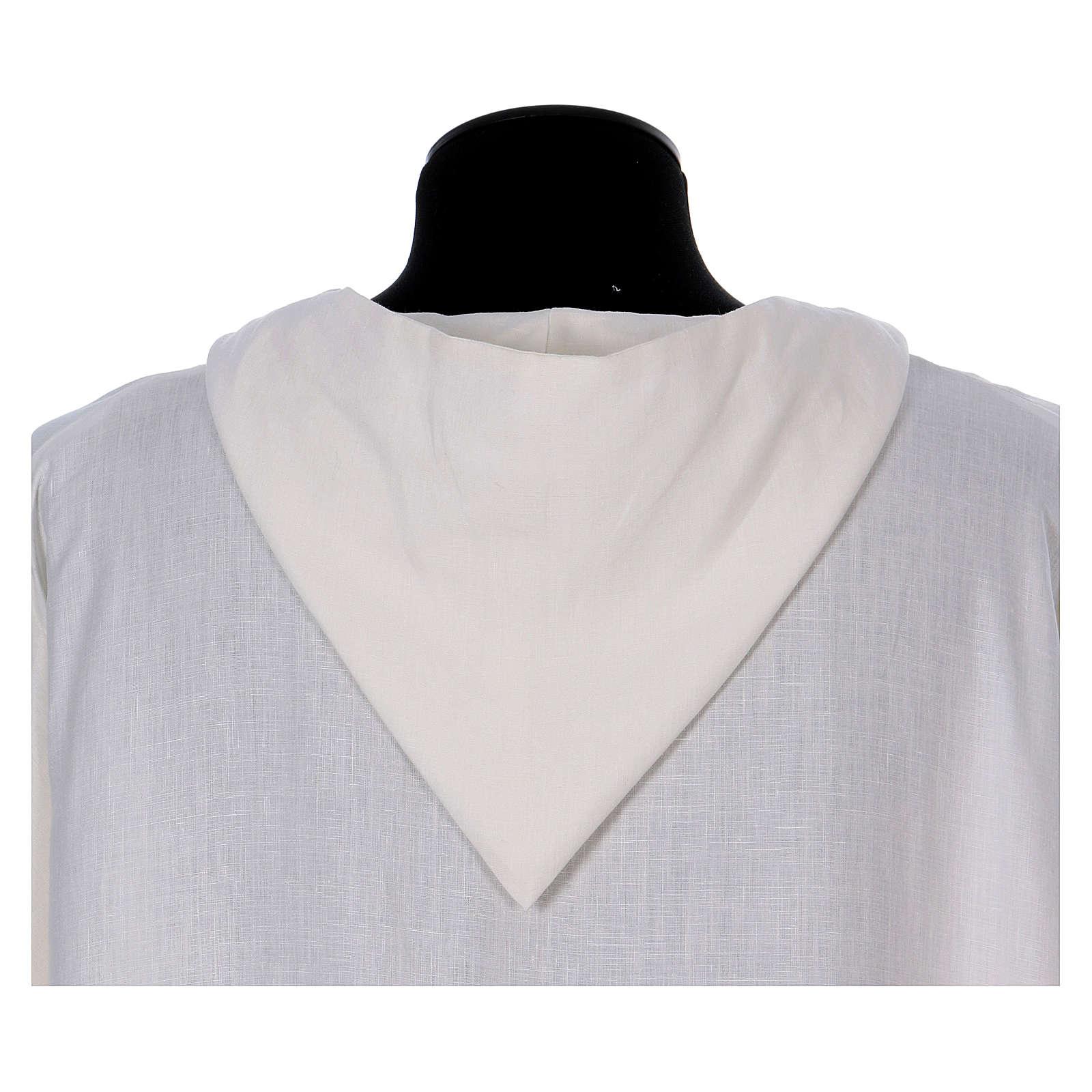 Linen monastic alb 4