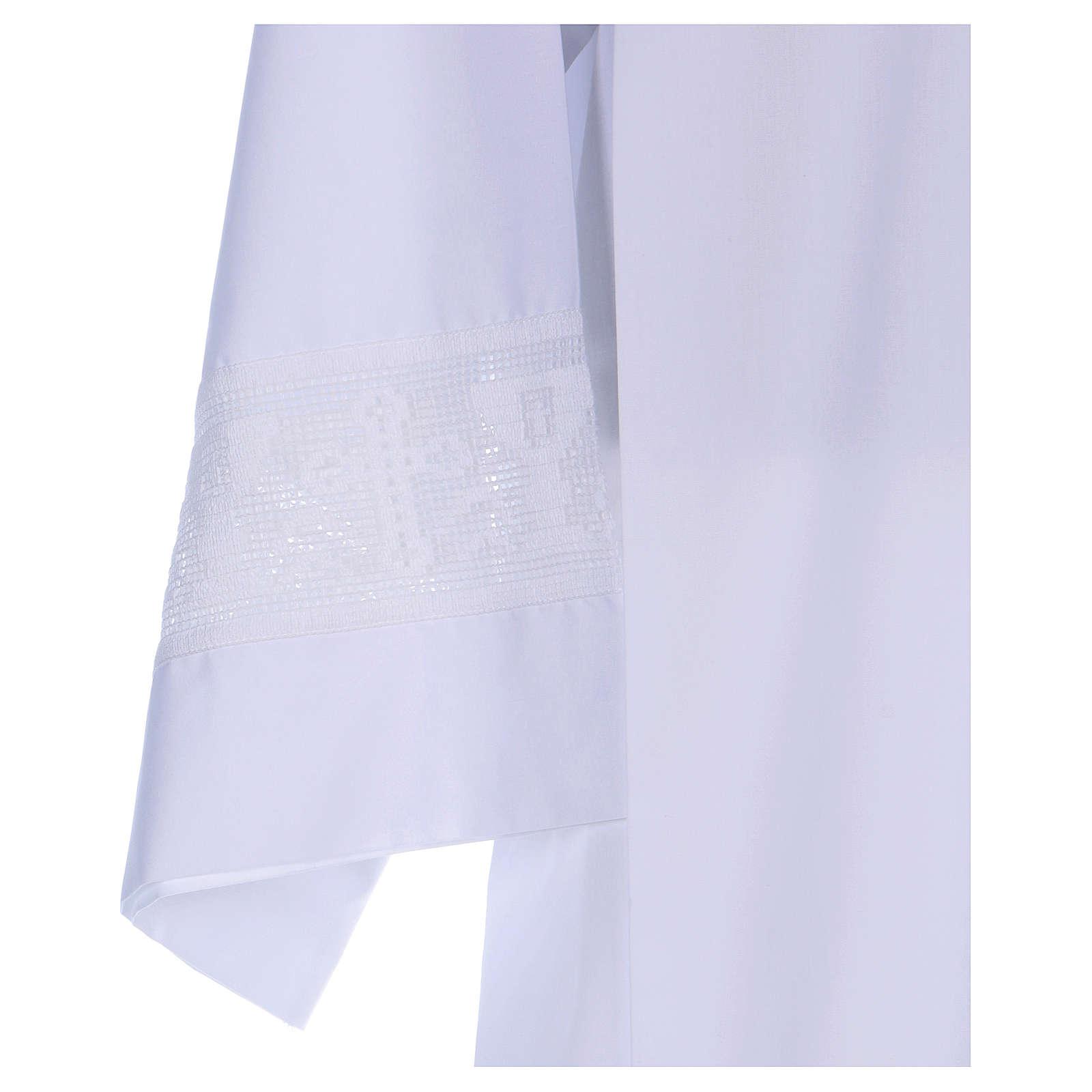 Camice misto cotone merletto croce calice 4