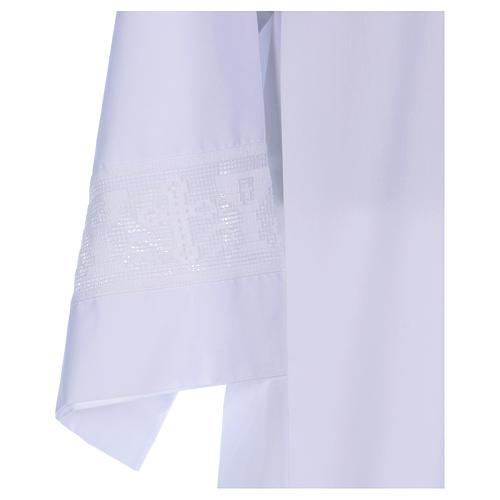 Camice misto cotone merletto croce calice 2