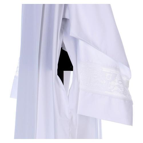 Camice misto cotone merletto croce calice 3