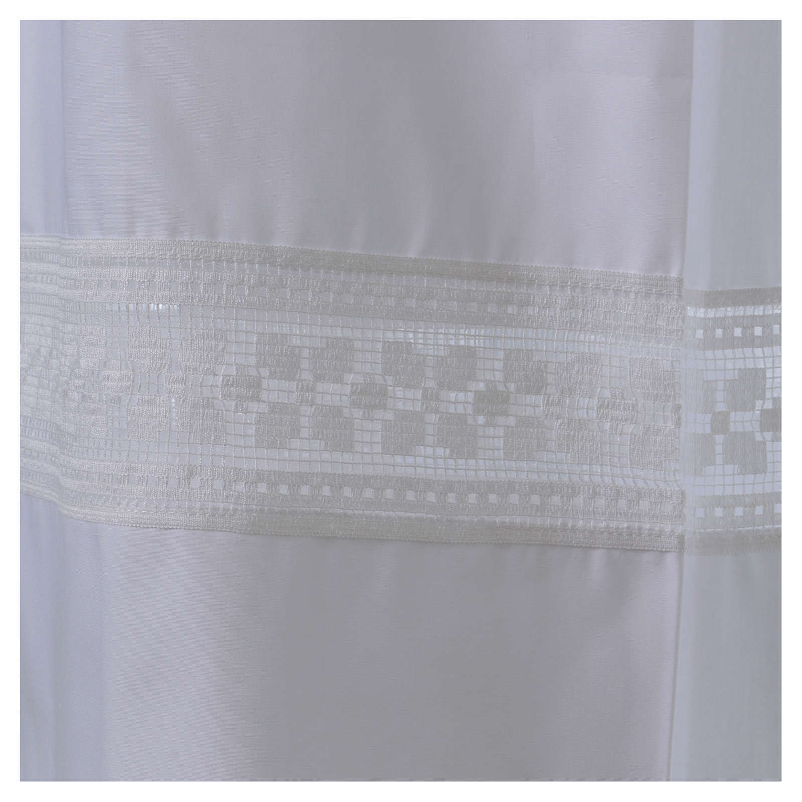 Alba algodón mixto encaje fondo y mangas 4