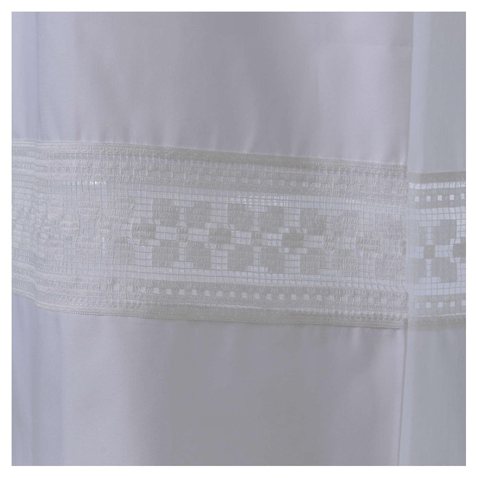 Camice misto cotone merletto fondo e maniche 4
