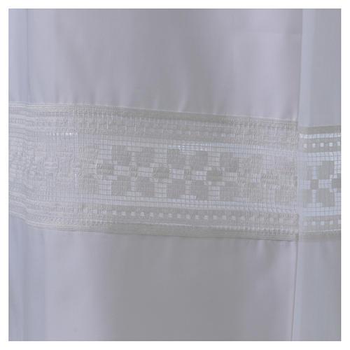 Camice misto cotone merletto fondo e maniche 2
